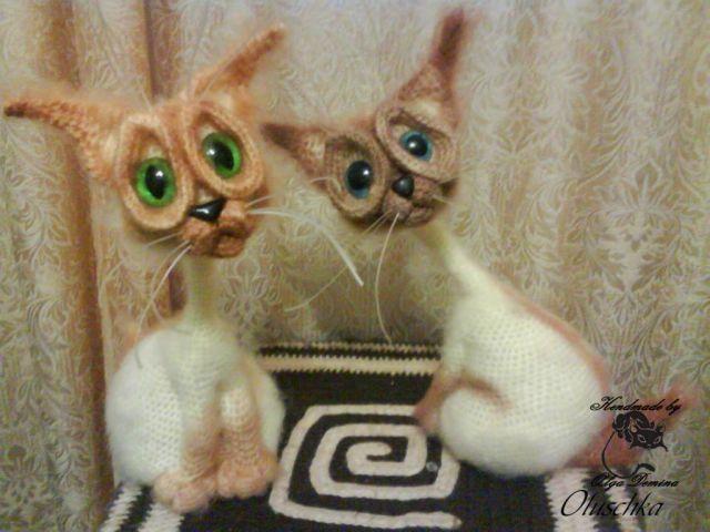 Вязанные сиамские коты 116