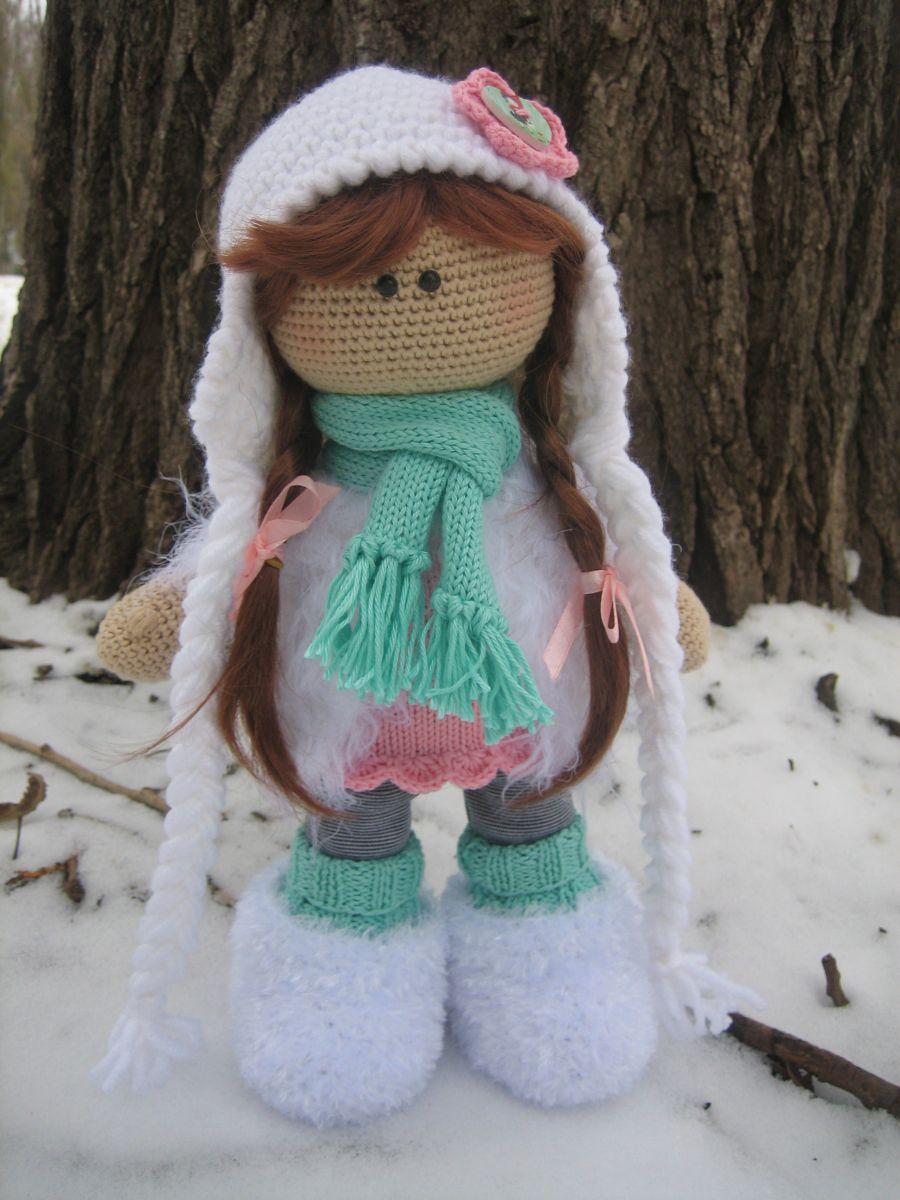 Схема вязания куклы большеножки