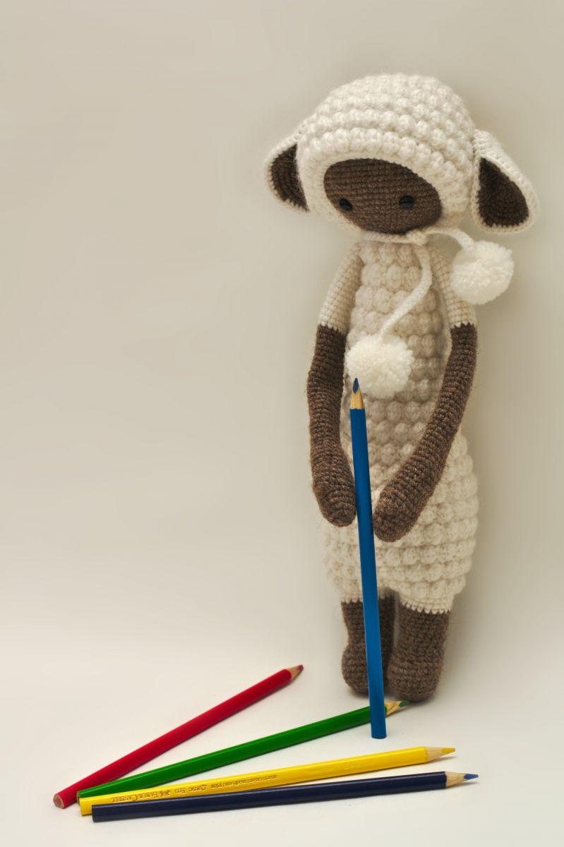 овечка лупо схема вязания