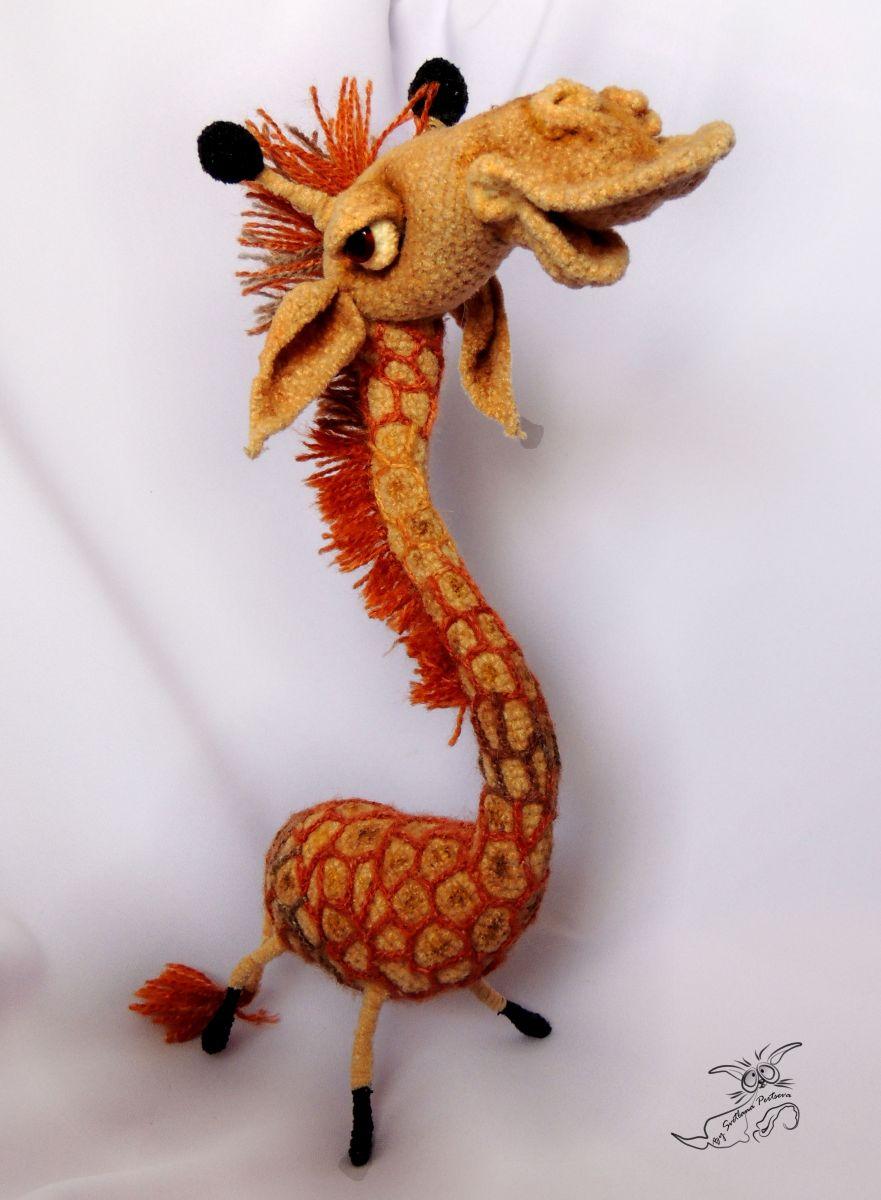 Вязание крючком игрушки для начинающих жираф