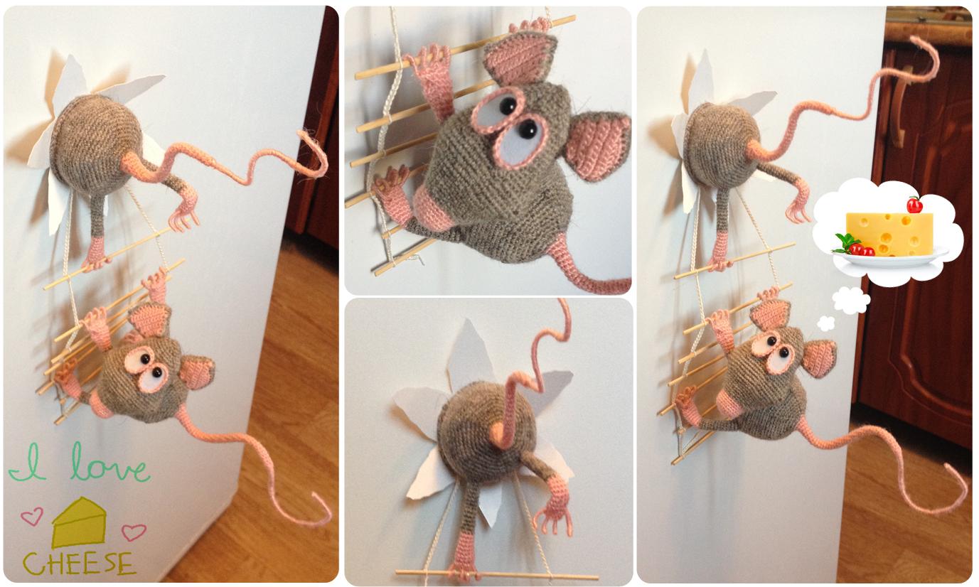 Мышка на холодильник своими руками 36