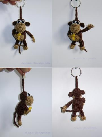"Брелок ""обезьянка с бананом"""
