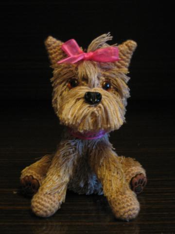 Собака йорк вяжем крючком мягкую игрушку своими руками