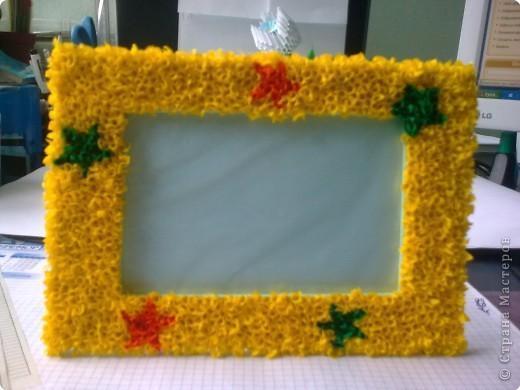 Рамка из гофрированной бумаги своими руками фото
