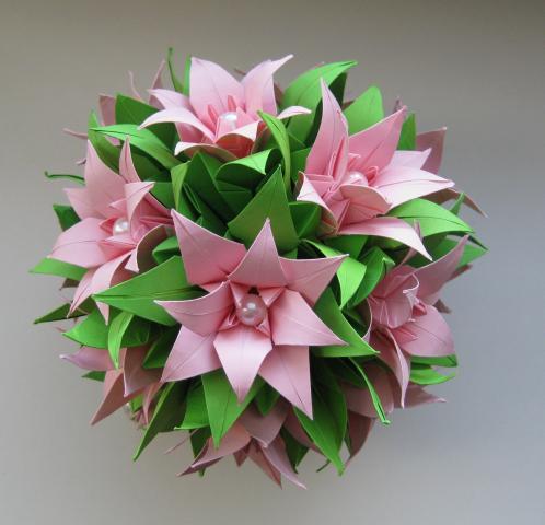 Подарок на день рождения из оригами видео