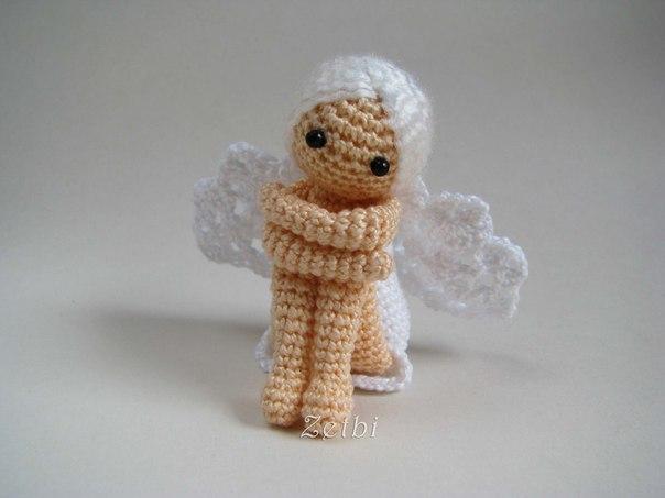 Вяжем ангелочка своими руками из ниток ирис 70