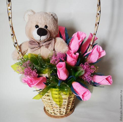 Цветы своими руками в букет из игрушек мастер класс