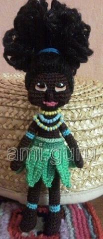 африканка крючком