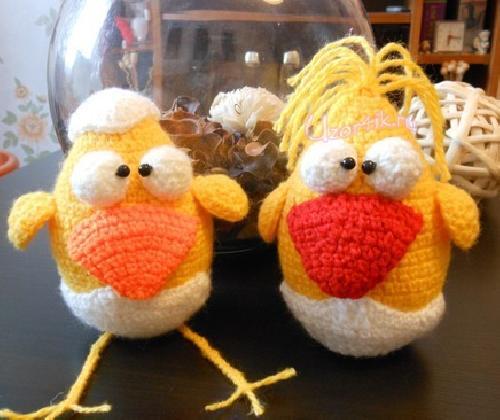 Для вязания цыплят вам