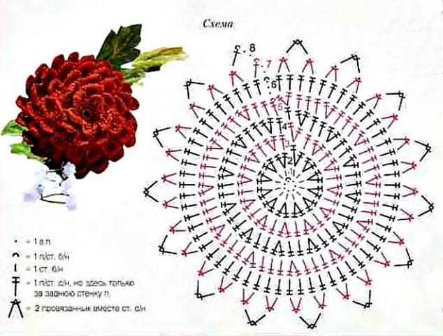 Крючок вязание схемы цветы фото