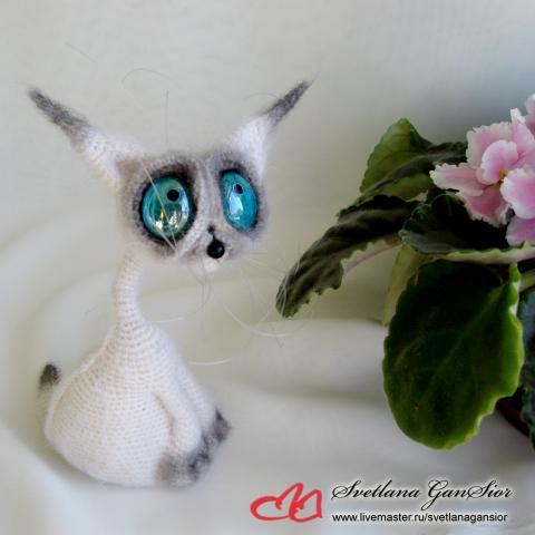 Вязанные сиамские коты 91