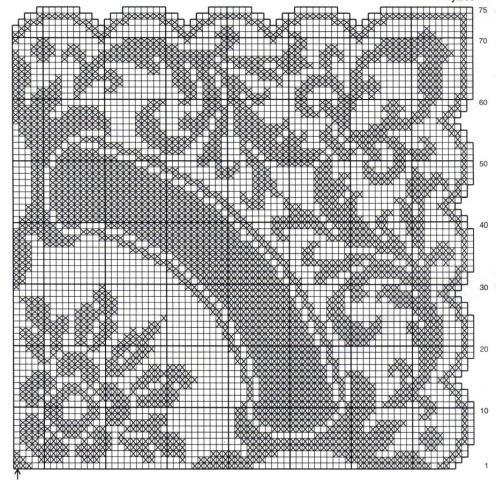 Филейное вязание скатертей 70