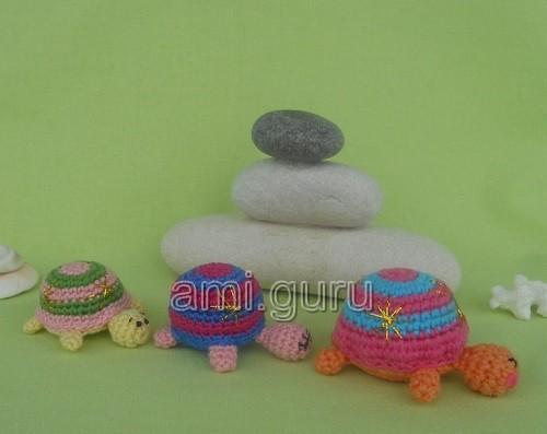 черепахи амигуруми схема