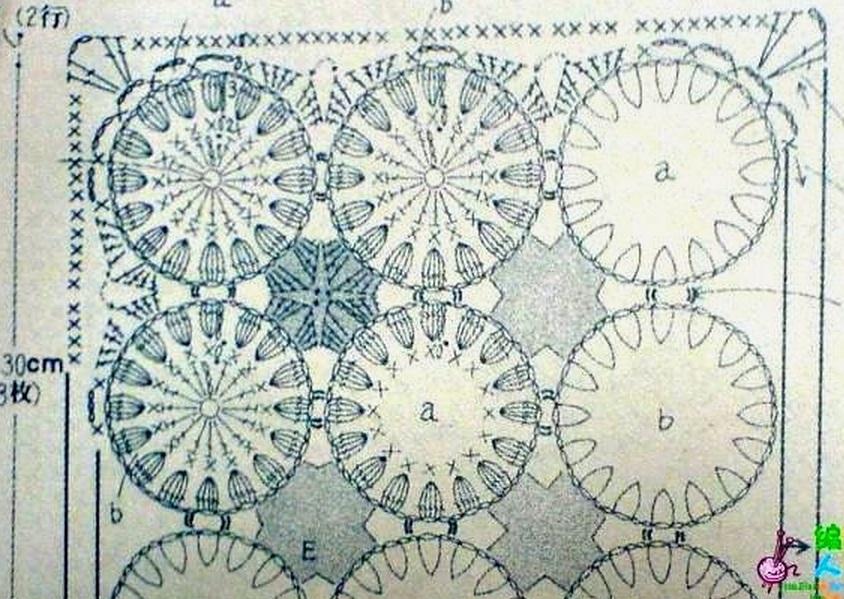Вяжем коврики крючком подробная схема