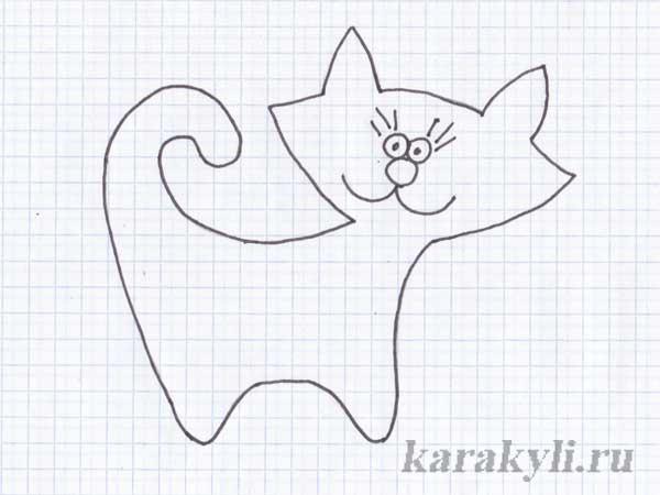 Коты из фетра схемы шаблоны