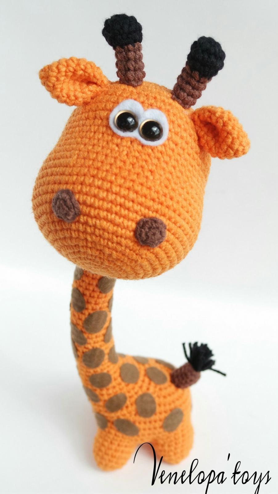 Вязание игрушек крючком жираф схема