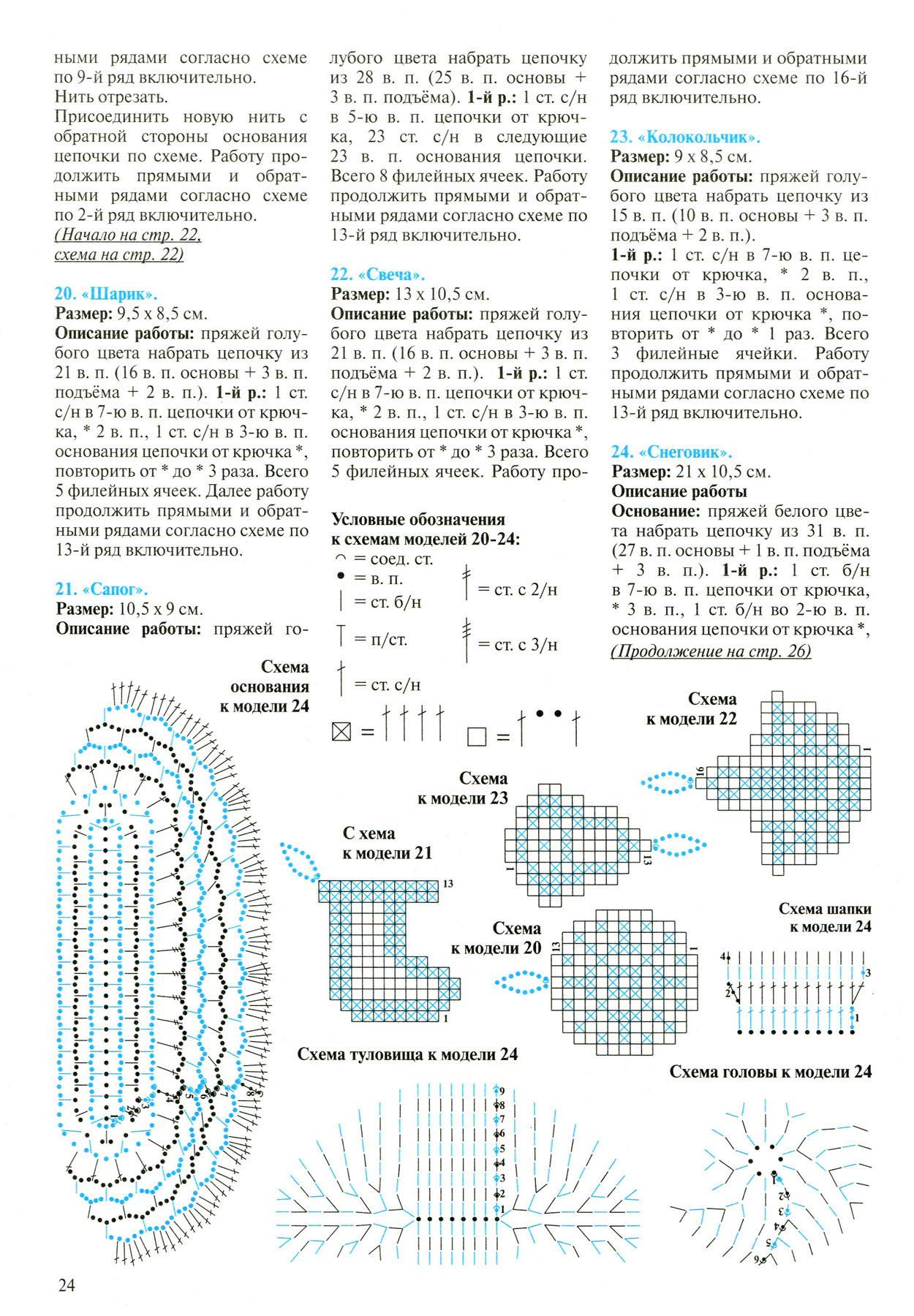 «Вязаный снеговик крючком - схема и описание игрушки амигуруми 11