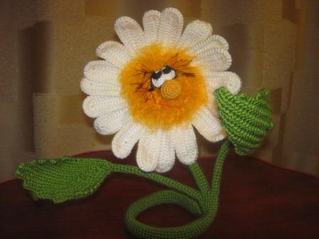 Вязание крючком ромашек марины борисовой