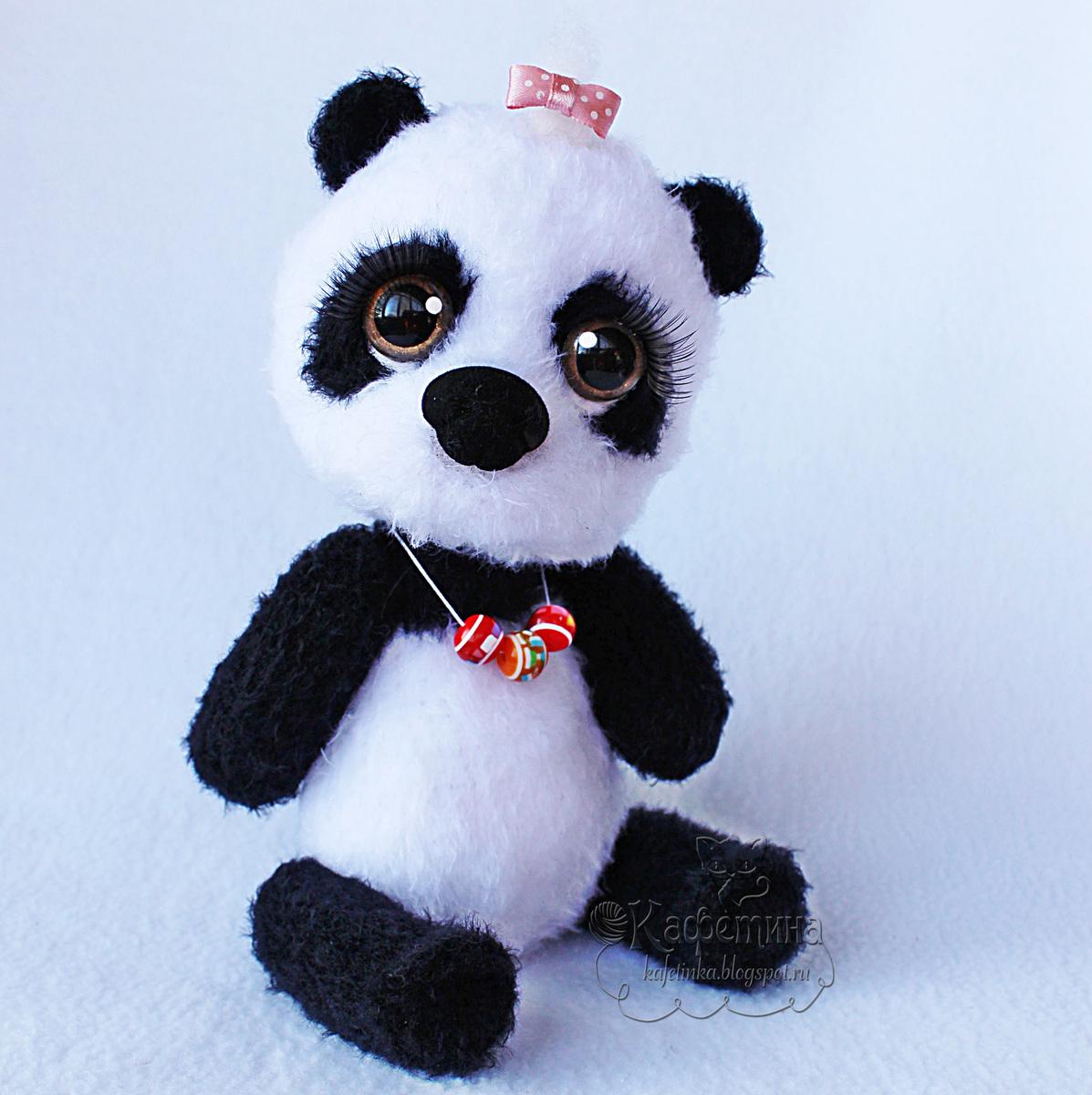 Вязание игрушки панды крючком 45