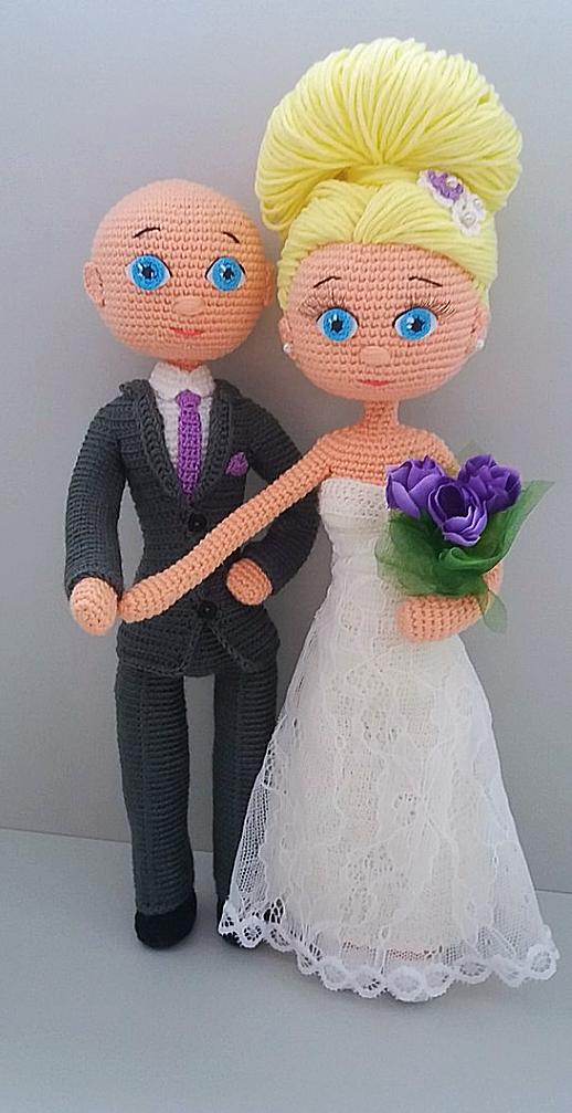 164Как связать жениха и невесту крючком