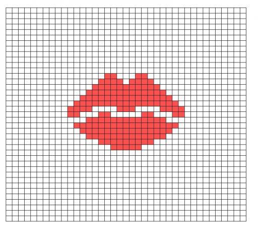 Как сделать рисунок квадратиками