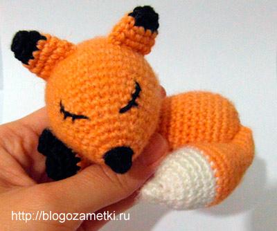 Вязание игрушек лиса
