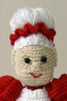 Вязаная игрушка миссис Клаус : пошагово с фото