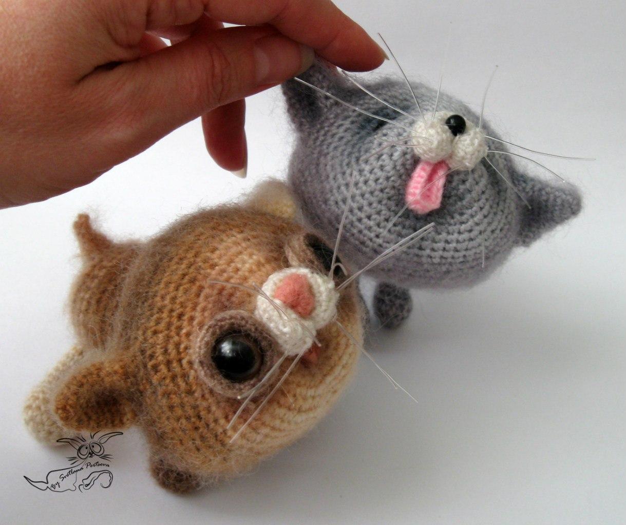 Вязание крючки для кошек