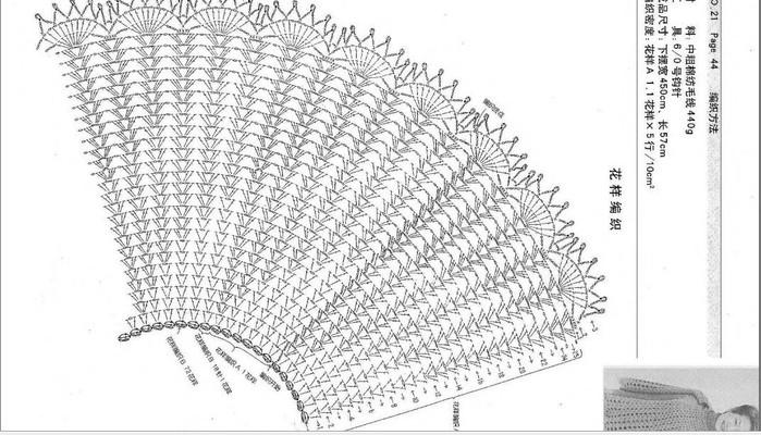 Пончо и накидки вязанные схемы