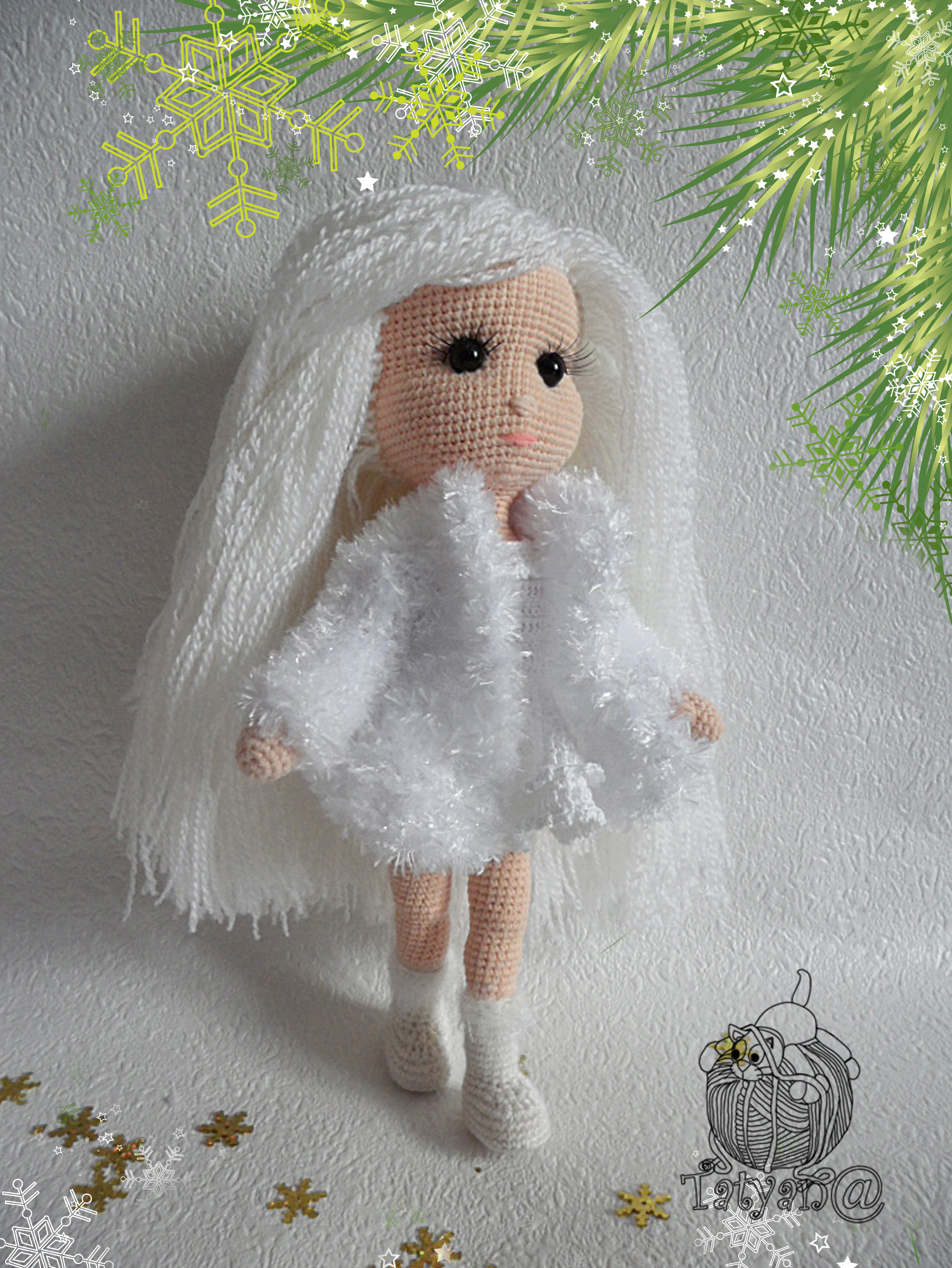 Снегурочка своими руками - вязаная кукла крючком