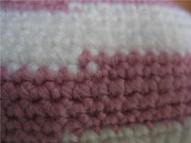 Вязание крючком.переход с одного цвета в другой