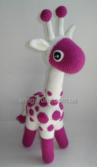 жираф, связанный крючком