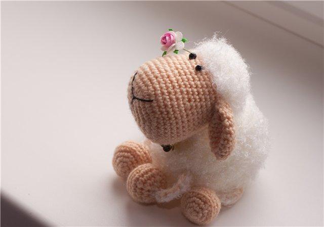 Вязание крючком овечка