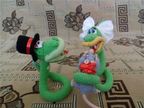 смешная пара змей