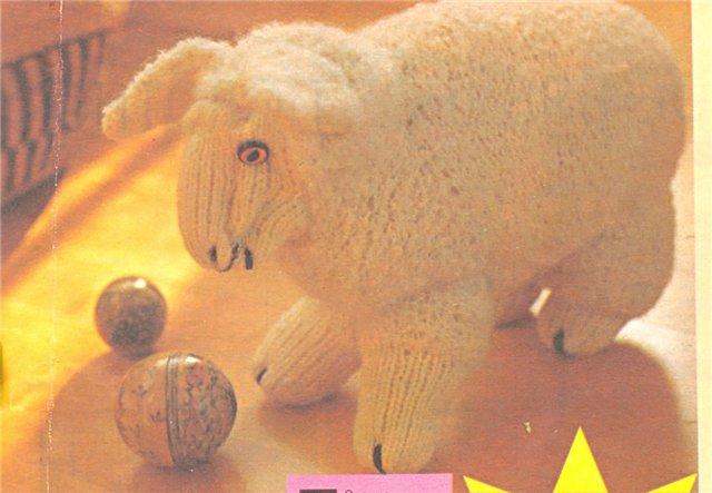 Как вязать овечку на спицах