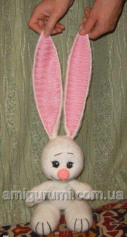 Вяжем зайца крючком
