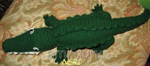 мастер-класс по вязанию крокодила