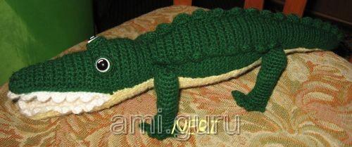 крокодил вязаный