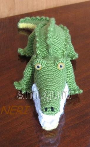 мастер-класс крокодил крючком