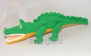 вяжем крокодила крючком