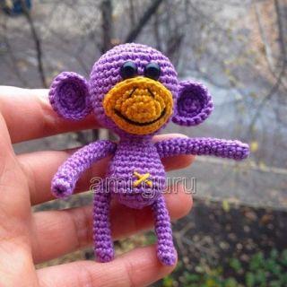 Амигуруми обезьяна
